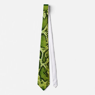 Green Snakeskin Tie