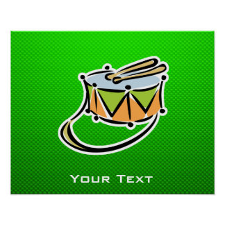 Green Snare Drum Posters
