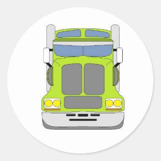 green snot truck classic round sticker