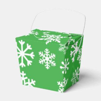 Green Snowflake Christmas Cookie Box