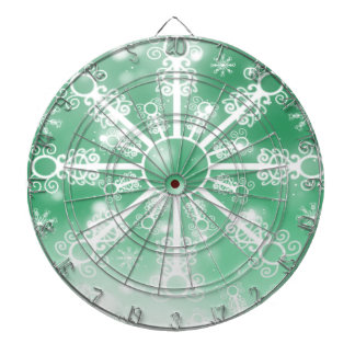 Green Snowflake Dartboard