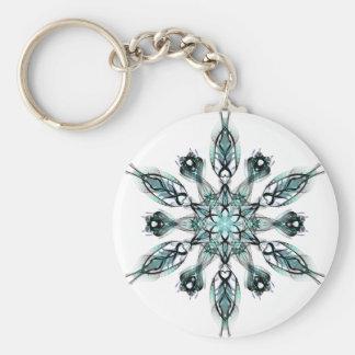 Green Snowflake Keychain