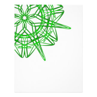 green snowflake madala customized letterhead