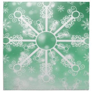 Green Snowflake Napkin