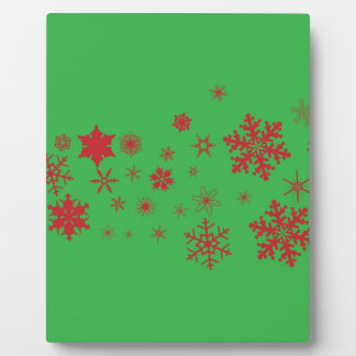 Green Snowflake Spangled Banner Plaque