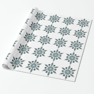 Green Snowflake Wrapping Paper