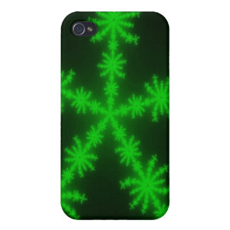 Green SnowFlakes iPhone 4/4S Case