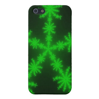 Green Snowflakes iPhone 5 iPhone 5 Cases