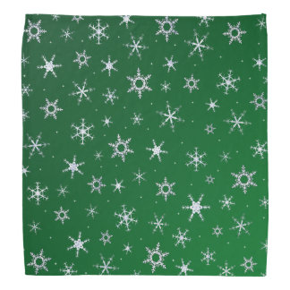 Green Snowflakes Kerchiefs