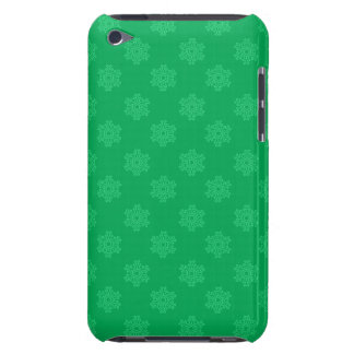 Green snowflakes pattern iPod touch case