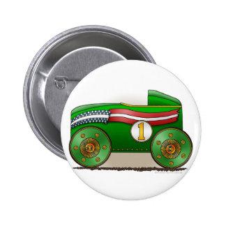 Green Soap Box Race Car Pins