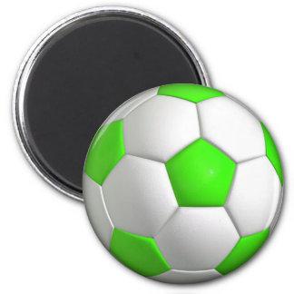Green Soccer Ball Magnet