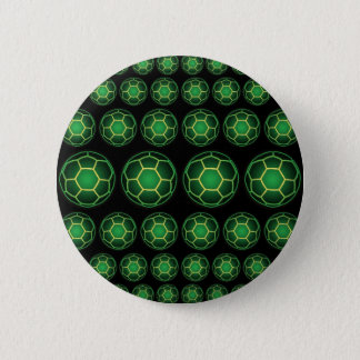 Green soccer balls 2 inch round button