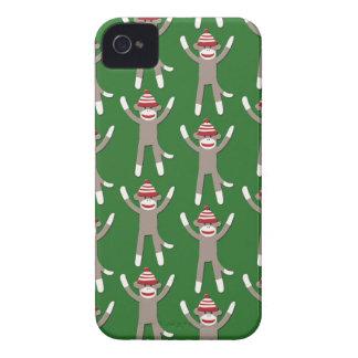 Green Sock Monkey Print iPhone 4 Case-Mate Case