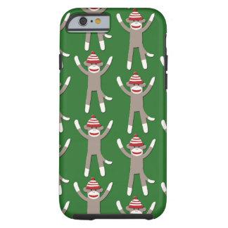 Green Sock Monkey Tough iPhone 6 Case