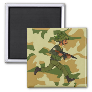 GREEN SOLDIER PAKISTAN SQUARE MAGNET