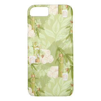 Green Spa, yoga, workout, bamboo Case-Mate iPhone Case
