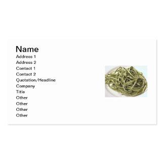 Green spaghetti business card