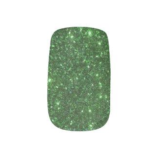 Green Sparkles Minx Nail Art