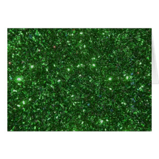 Green Sparkles Note Card