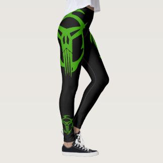 Green SPECOPS On Black Leggings