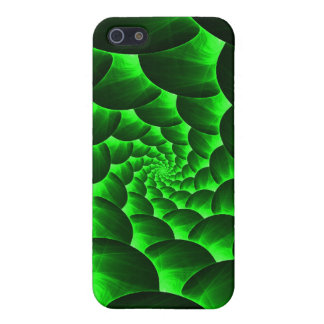 Green Spiral Fractal iPhone 5 Cases
