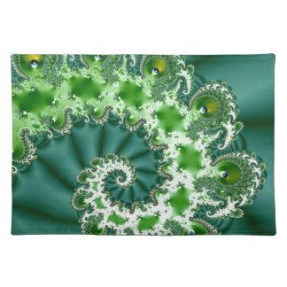 Green Spiral Fractal Placemat