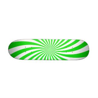 Green spiral skate board decks