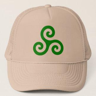 Green Spiral Triskele Trucker Hat