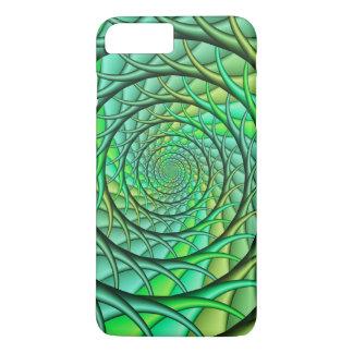 Green Spiraling Roots Phone Case