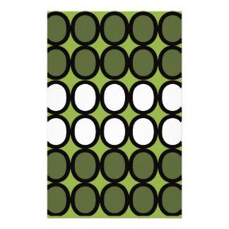 Green Splash of O's Stationery Paper