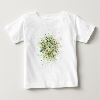 Green Splatter Mandala Baby T-Shirt