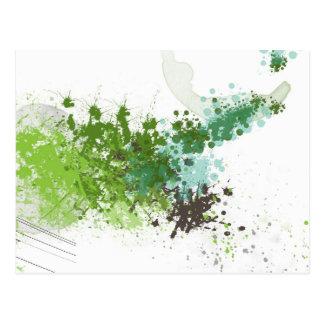 Green Splatter Postcard