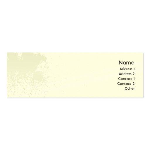 Green Splatter - Skinny Business Cards