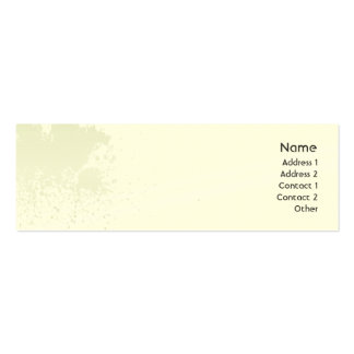 Green Splatter - Skinny Mini Business Card