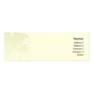 Green Splatter - Skinny Mini Business Card