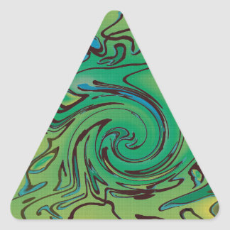 Green splurge triangle sticker