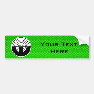 Green Sport Shooting Car Bumper Sticker