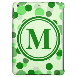 Green Spots Monogram iPad Air Cover