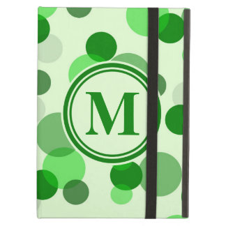 Green Spots Monogram Cover For iPad Air