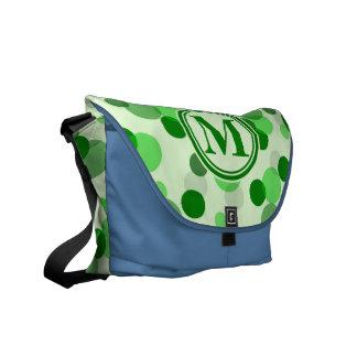 Green Spots Monogram Messenger Bags
