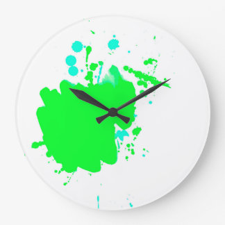Green spotted clock. large clock