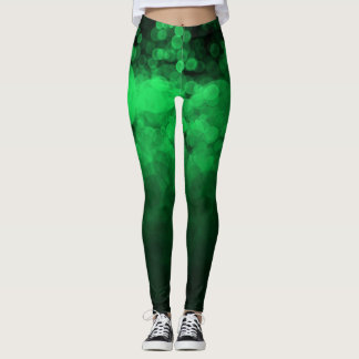 Green Spotted - Leggings