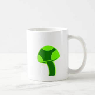 Green Spotted Mushroom Coffee Mug