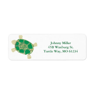 Green Spotted Turtle Address Labels