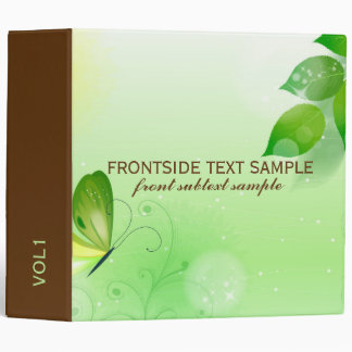 Green Spring Background With Butterfly Vinyl Binder