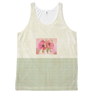 Green-Spring-Floral-Casual--Women's-Tank-Top All-Over-Print Tank Top