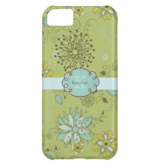Green Spring Floral Pattern Background iPhone 5C Cover