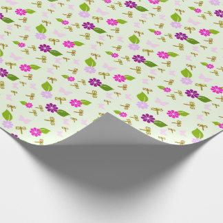 Green Spring Garden Birthday Wrapping Paper