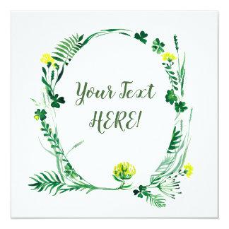 Green spring irish card